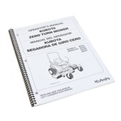 Kubota Operator's Manual for ZD321, ZD323, ZD326 & ZD331
