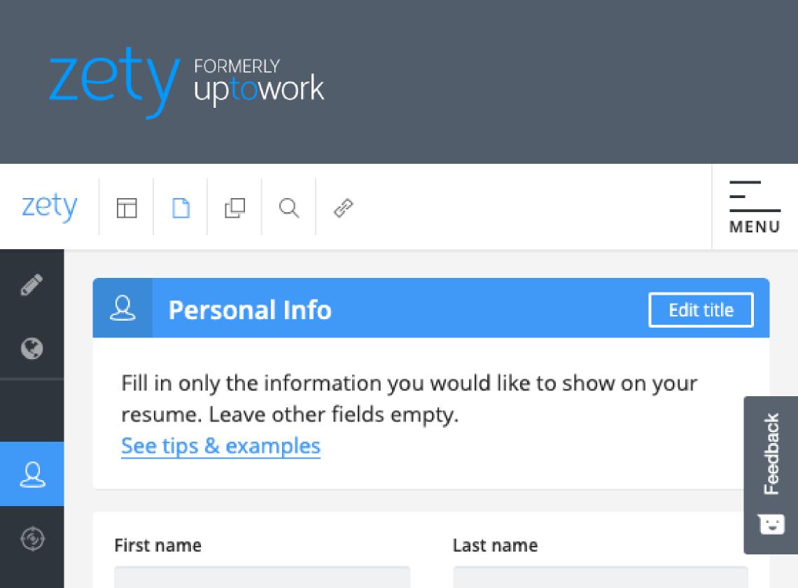 zety resume login