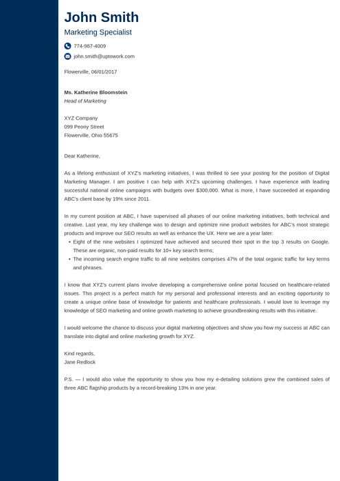 20 Cover Letter Templates Download Create Your Cover Letter in 5 Minutes