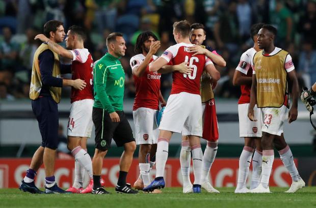 Arsenal Edge Sporting As Betis Stun Milan In Europa League