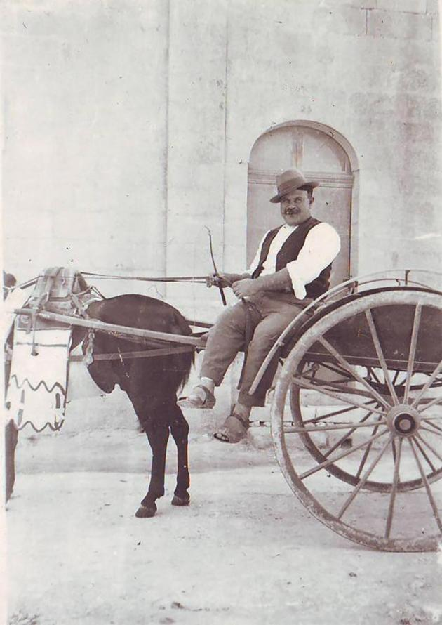 The author's uncle Ġanni with horse and cart. Photo: Joe Zammit Ciantar