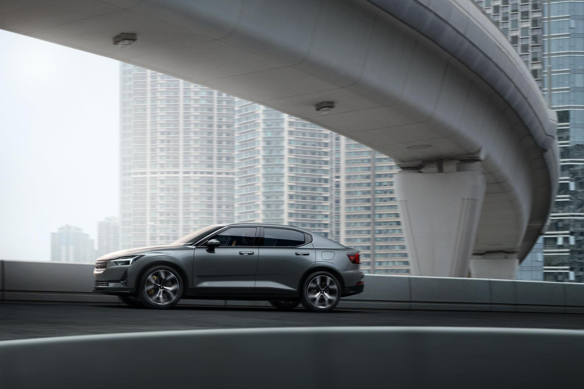 The Polestar 2 makes use of recycled materials.