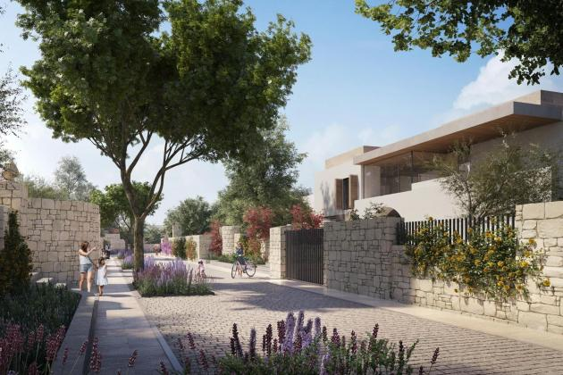 Artist's impression of the streetscape for the residential villas. Photo: Corinthia Hotels