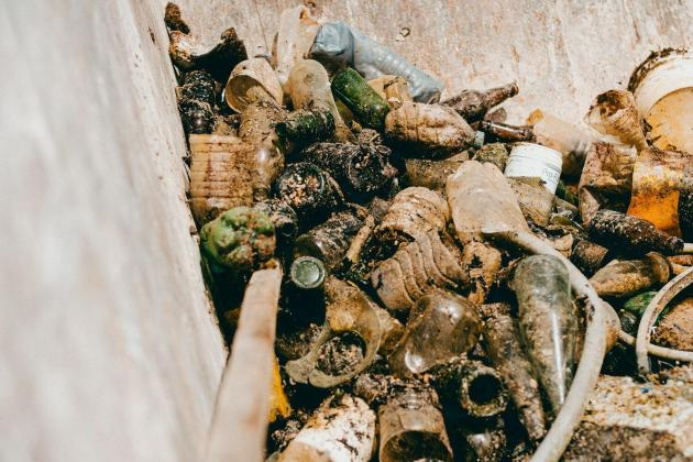 Some of the plastic litter collected in Marsaxlokk. Photo: Malta Airport Foundation
