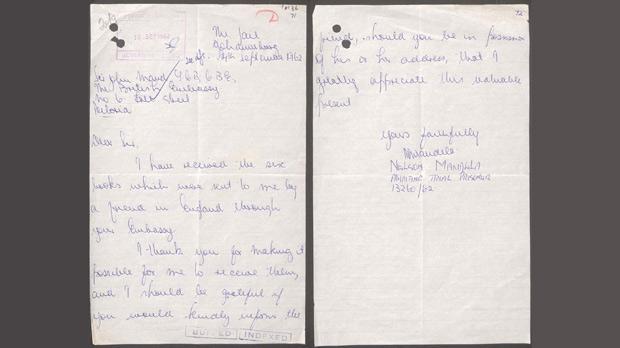 Mandela letter goes online