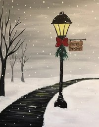 Winter Lamp Post - Easel Event | Bakersfield