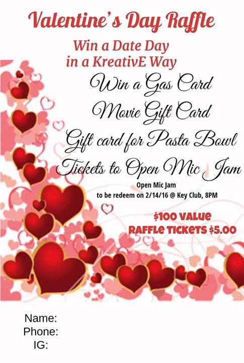 Valentines Day Raffle 2016 At Pasta Bowl Detroit