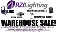 RZI Used Gear Garage Sale! at RZI Lighting, New Orleans