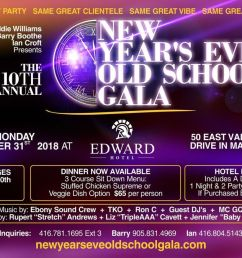 10th annual new years eve old school gala monday december 31st 2018 at edward village hotel markham markham [ 1200 x 674 Pixel ]