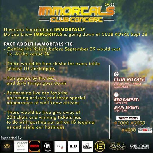 immortal concert
