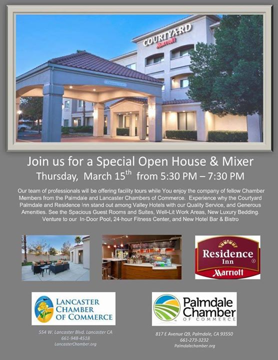 Open House Mixer Hosted By Courtyard Marriott Palmdale