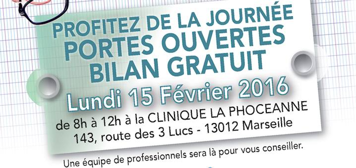 BILAN GRATUIT At Clinique La Phocanne 143 Route Des 3