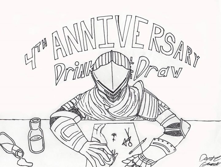 Drink & Draw 4th Anniversary and Comics Trivia with