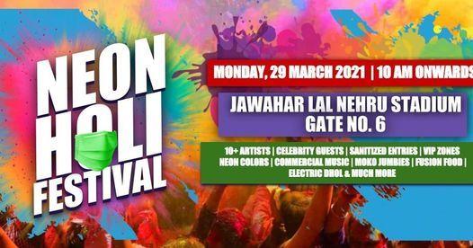 NEON HOLI FESTIVAL, Jawahar Lal Nehru Marg, Delhi Gate, Delhi 110002,  India, New Delhi, March 29 2021   AllEvents.in