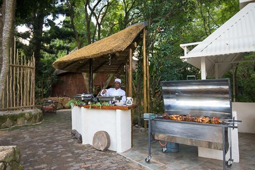 Christmas Lunch Spit Braai Full Lamb And Gient Skewer At