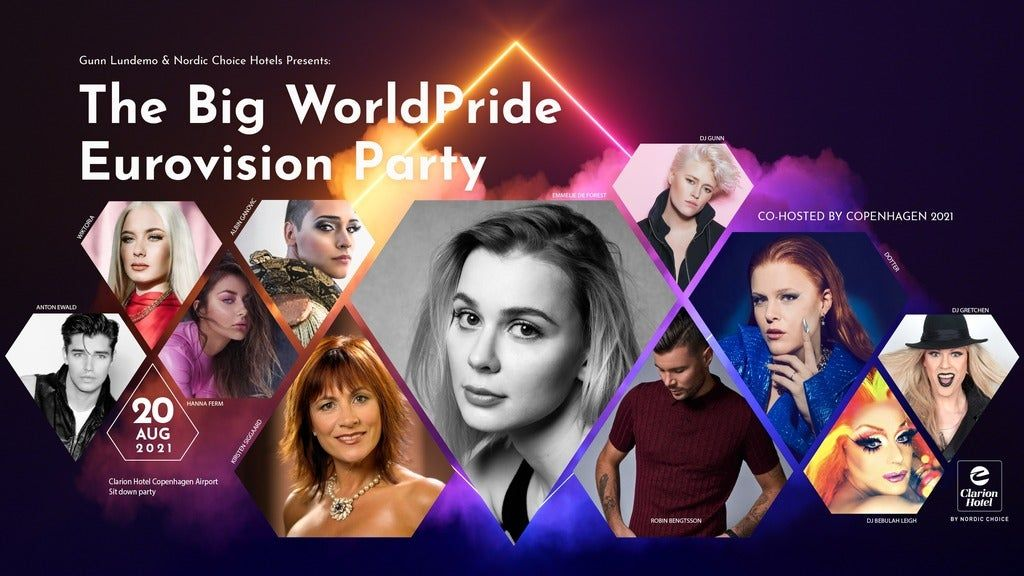 THE BIG WORLDPRIDE EUROVISION PARTY, Kastrup, August 20 2021   AllEvents.in