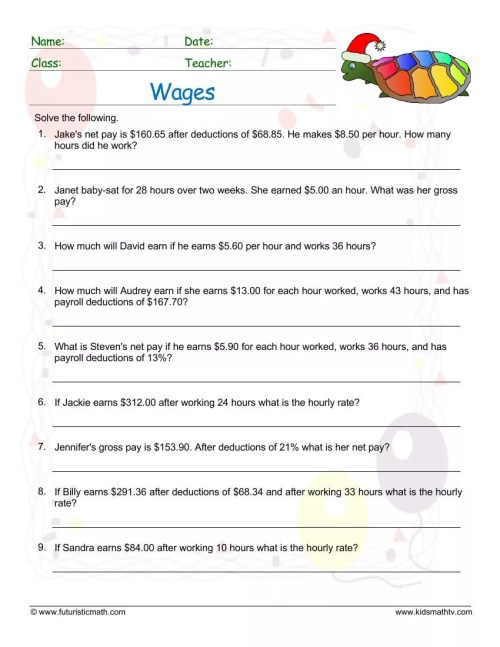 small resolution of Money And Consumer Math Worksheets pdf   Math Champions