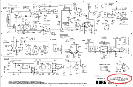 Hackers React to Korg Monotron Synth Schematic « Adafruit