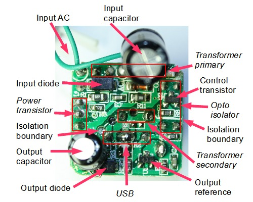 1000w Dell Power Supply Wiring Diagram Tiny Cheap And Dangerous Inside An Iphone Charger