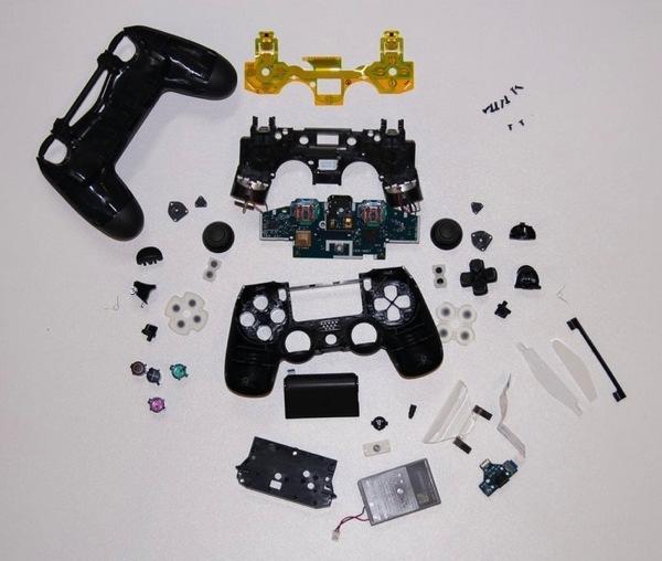4 Wire Arduino Diagram Ps4 S Dualshock 4 Controller Teardown 171 Adafruit