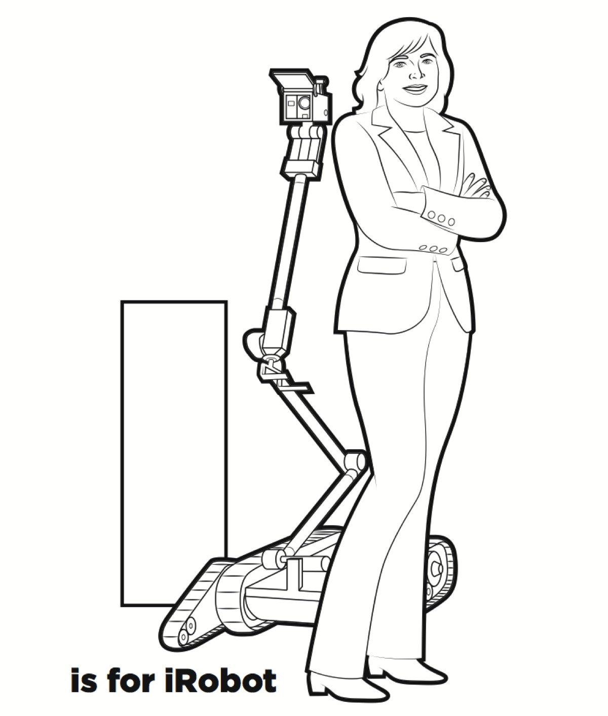 R is for Robot – Coloring book preview