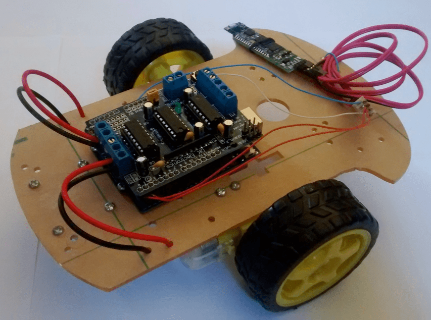 Pc Controlled Robot Using Bluetooth Project With Circuit Diagram
