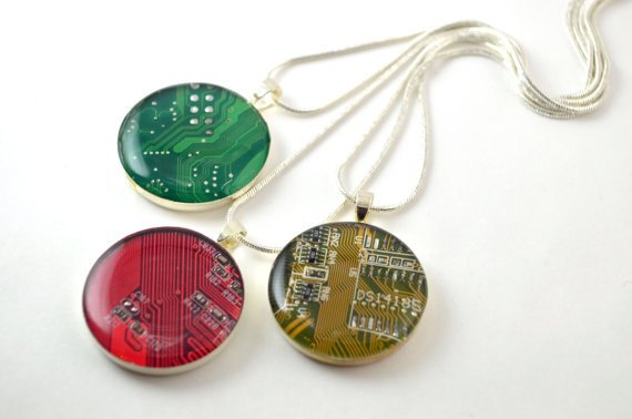 Ring Recycled Circuit Board Gift For Her Geeky By Catandcraftgeeky