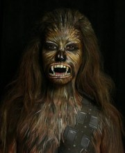 star wars-inspired face paint