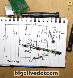 the pcb powering his usb pen but he reverse engineers the schematic and explains it and yes spoiler that s a 555 at the heart of this circuit  [ 1280 x 720 Pixel ]