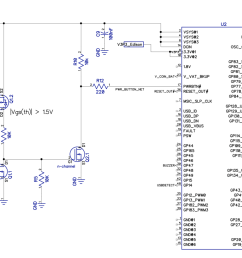 if edison is off and 5v usb is plugged in that will turn on q1 1 and turn off q2 1 resulting in logic high for pwrbtn on edison  [ 1222 x 855 Pixel ]