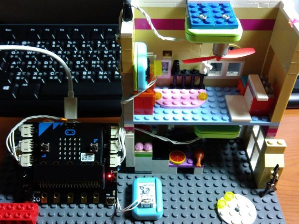 Microbit Smart Home  light fan and alarm system