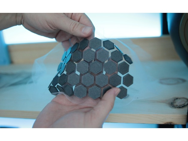 3D Printing On Fabric – Hexagon Triangle Pattern Test #