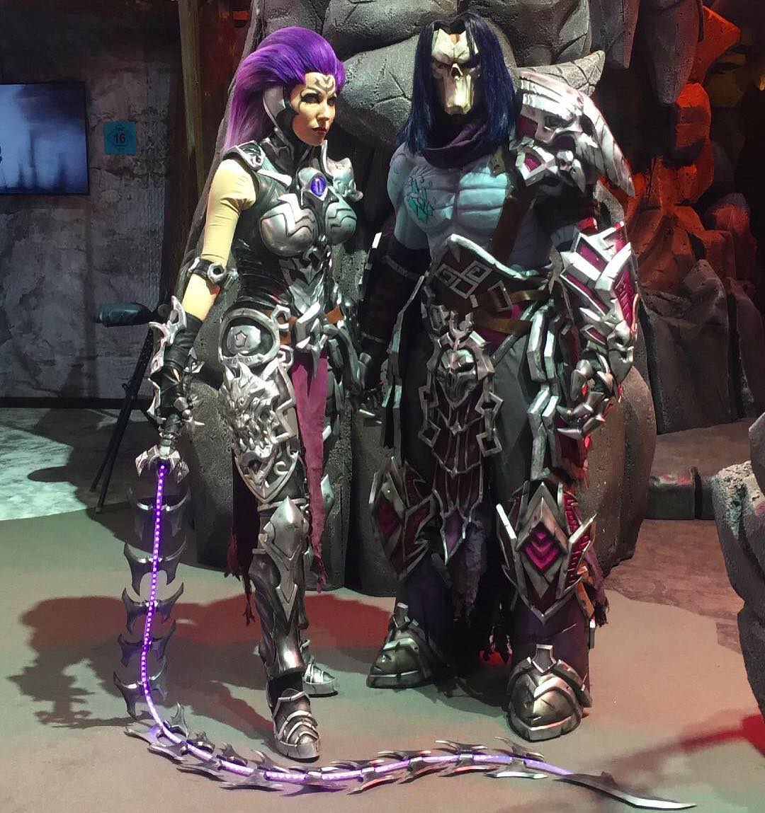 NeoPixels Cosplay Wig Amp Whip Prop Of Fury From Darksiders