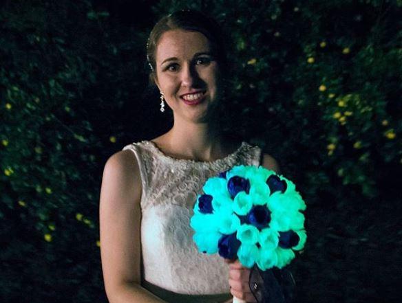 Erin Winick Wedding Bouquet Glow in the Dark