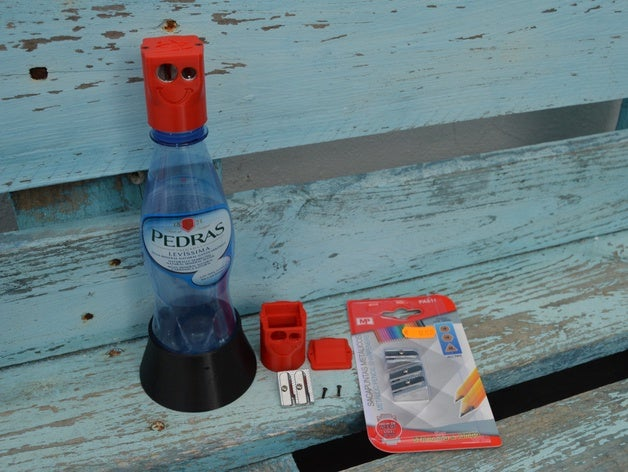Featured preview Bottle pencil sharpener container 3