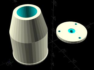 Cnc 3018 pro collet holder lm12uu solid model