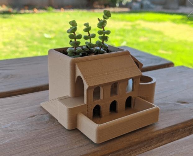 Roman Garden Villa Succulent Planter by Qrome Thingiverse