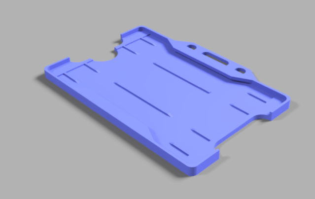 Lanyard Card Holder by That Jamie S Guy Thingiverse