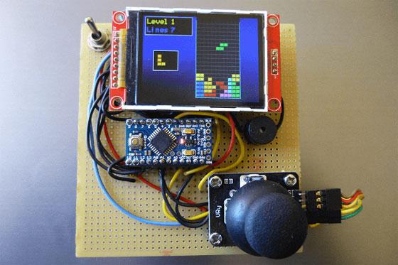 Juego TETRIS con Arduino y pantalla LCD color