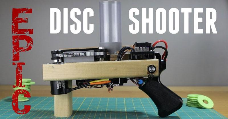 Pistola lanza discos con Arduino
