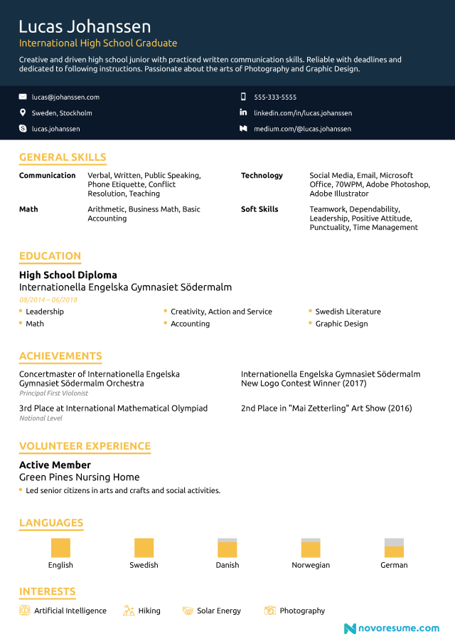 High School Resume - How-To Guide for 24 [24+ Samples]