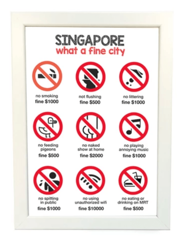Fines in Singapore