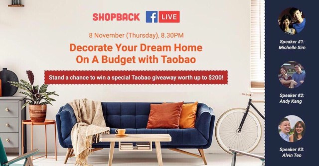 Shopback FB LIVE: Decorate Your Dream Home On A Budget with Taobao