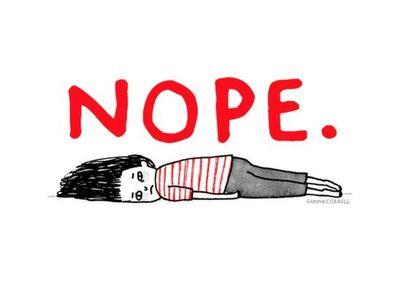 Girl Lying On The Ground Saying Nope