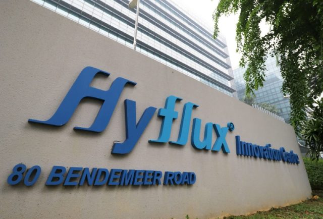 Hyflux Sign Outside Office