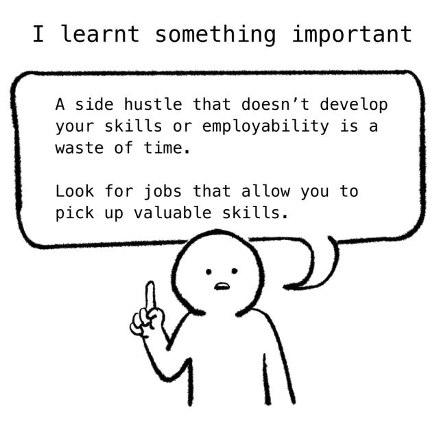 The Woke Salaryman: Important things learnt from side hustle
