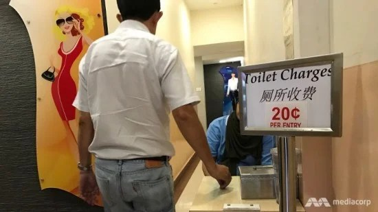 Pay toilet in Singapore
