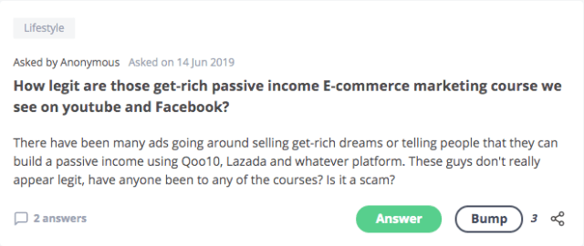 get-rich passive income E-commerce marketing course we see on youtube and Facebook?