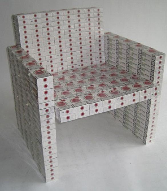 20 Benda lucu ini terbuat dari bungkus rokok lho, keren abis!