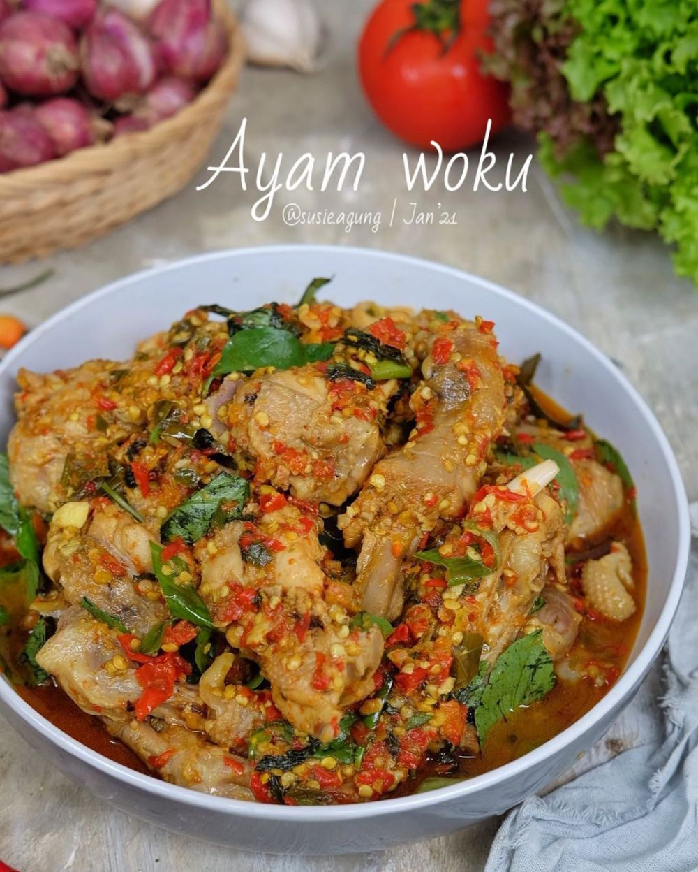 Resep Ayam Sayur : resep, sayur, Resep, Kemangi, Rumahan,, Bikin, Nagih